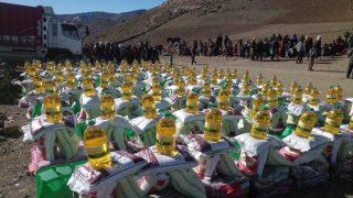 مساعدات لاقليم ازيلال لمواجهة موجة البرد ۔
